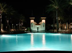 Arizona Biltmore Pool - Night view