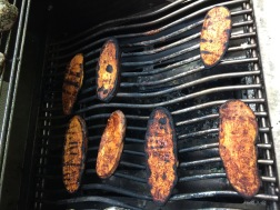 grilled sweet potato planks