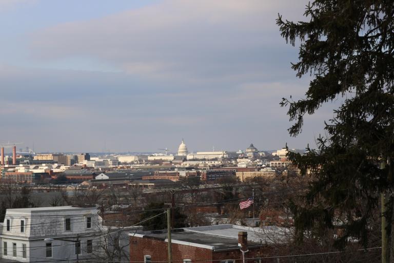 View from Cedar Hill, Frederick Douglass home